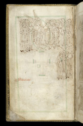 The Saved Awaiting Entry to Heaven, in The Liber Vitae of New Minster and Hyde Abbey